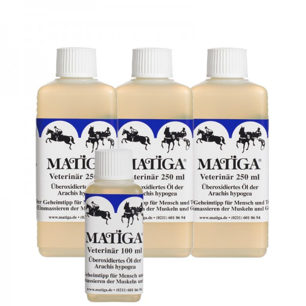 MATIGA Oel Veterinaer 3 x 250ml + 100ml